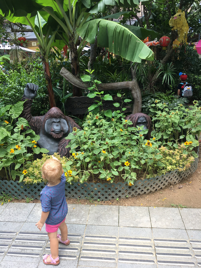 Toddler at Hong Kong Zoo