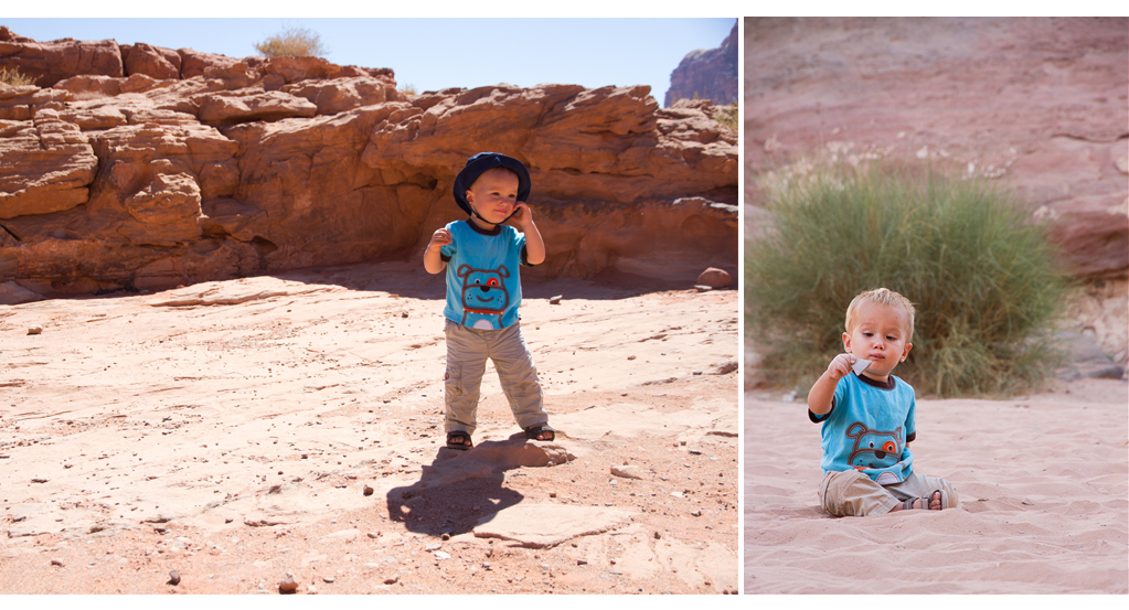 Cute Toddler in Wadi Rum