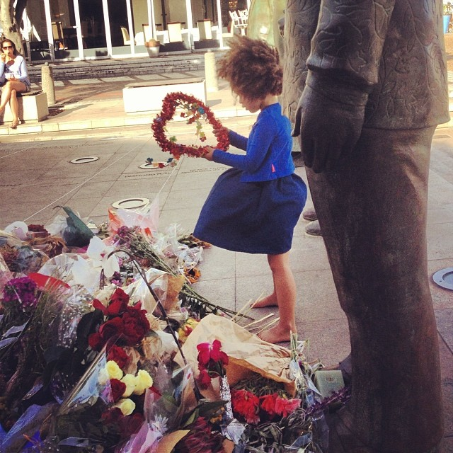 little girl by mandela monument