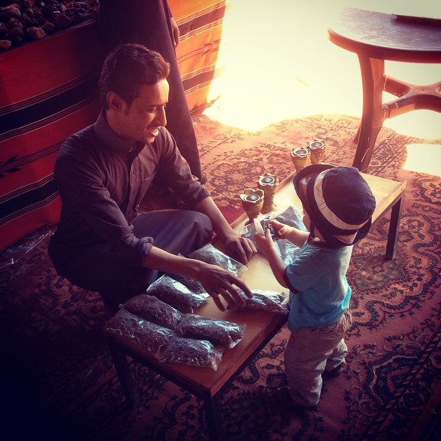 Toddler Buying Bedouin Tea