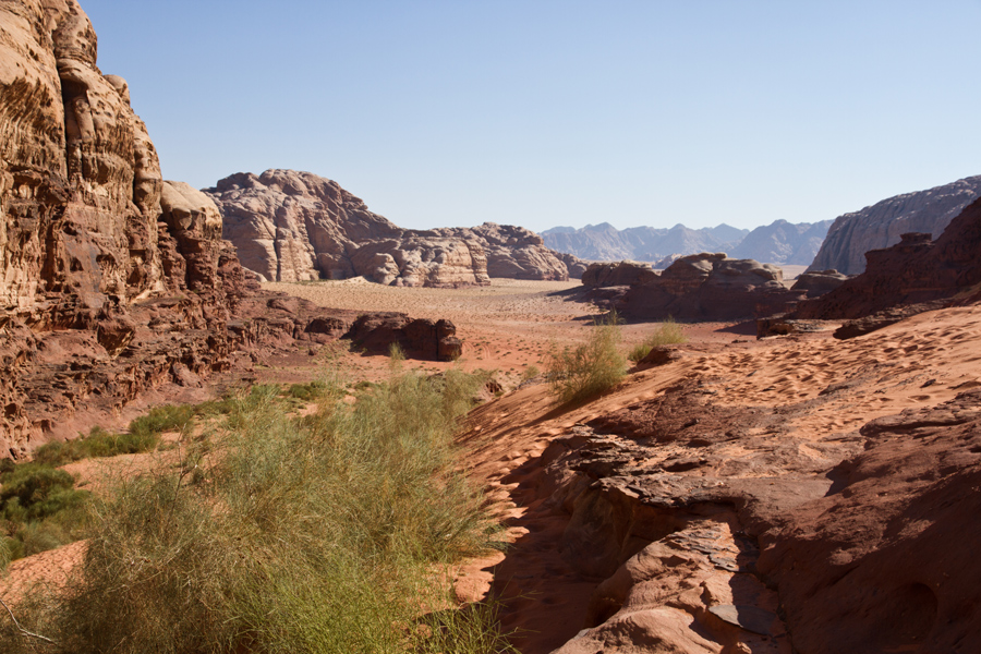 View of Wadi Rum in Jordan