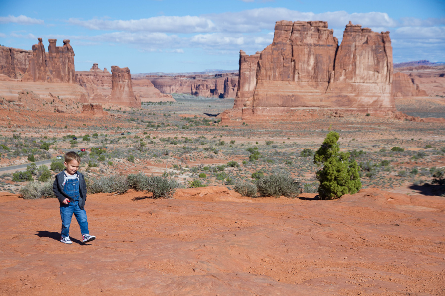 cute toddler in arches np