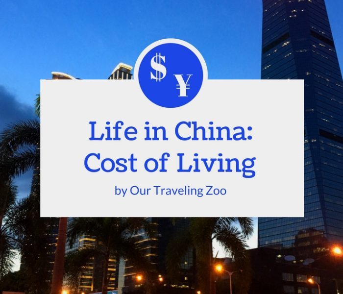 Life in China: Cost of Living in 2018