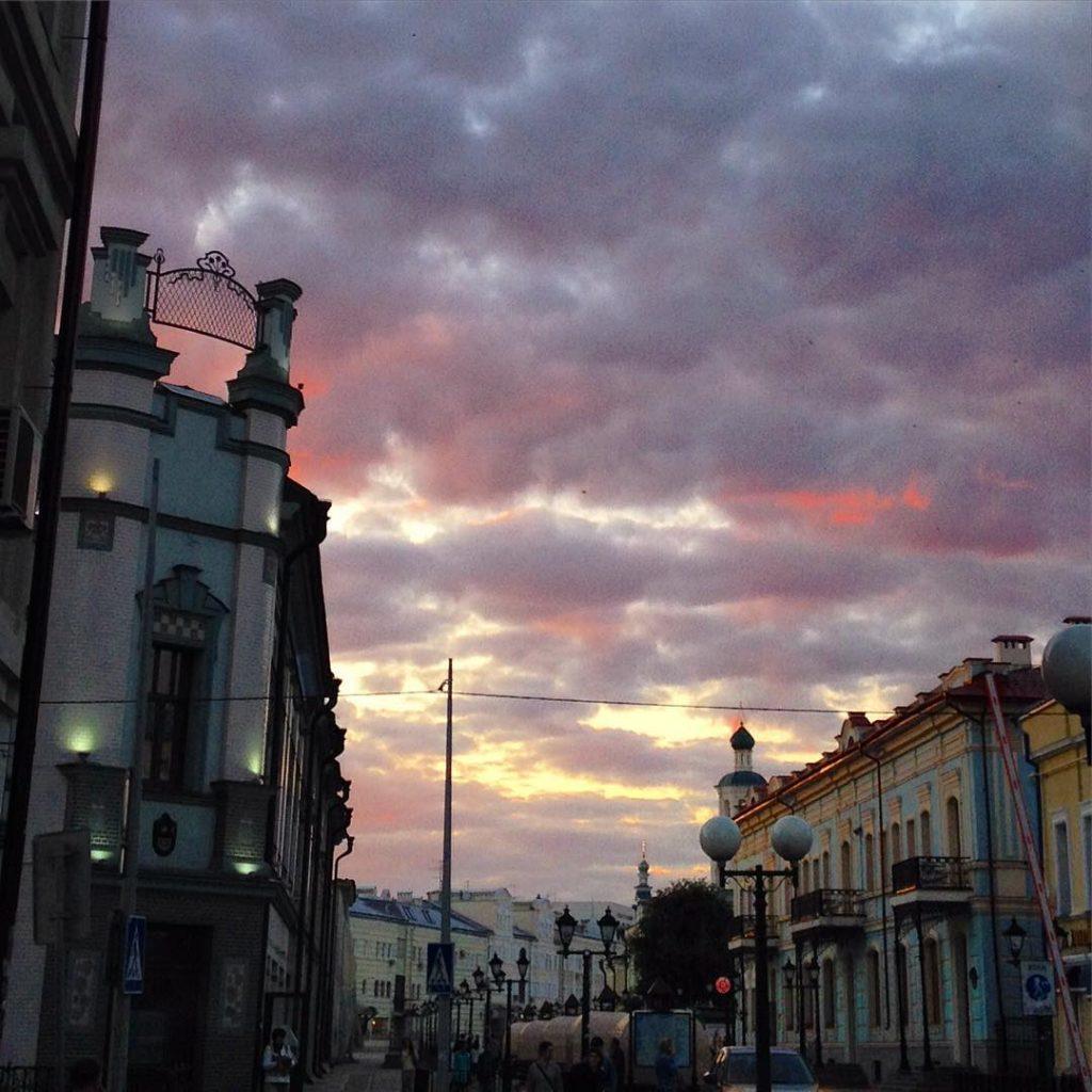 Sunset Bauman street