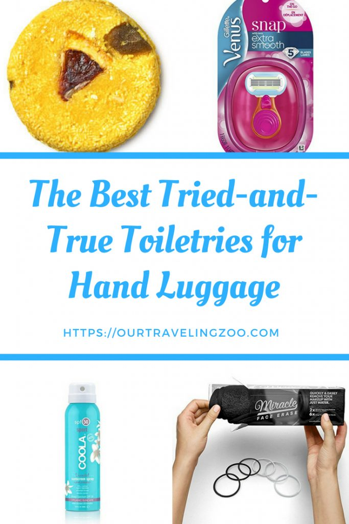 As a family that travels with carry-on only, we have perfected both our packing skills and the contents of our toiletries bag. Whether you are about to take your first big trip or just want to downsize a bit, check out our tried-and-true list of the best toiletries for hand luggage.