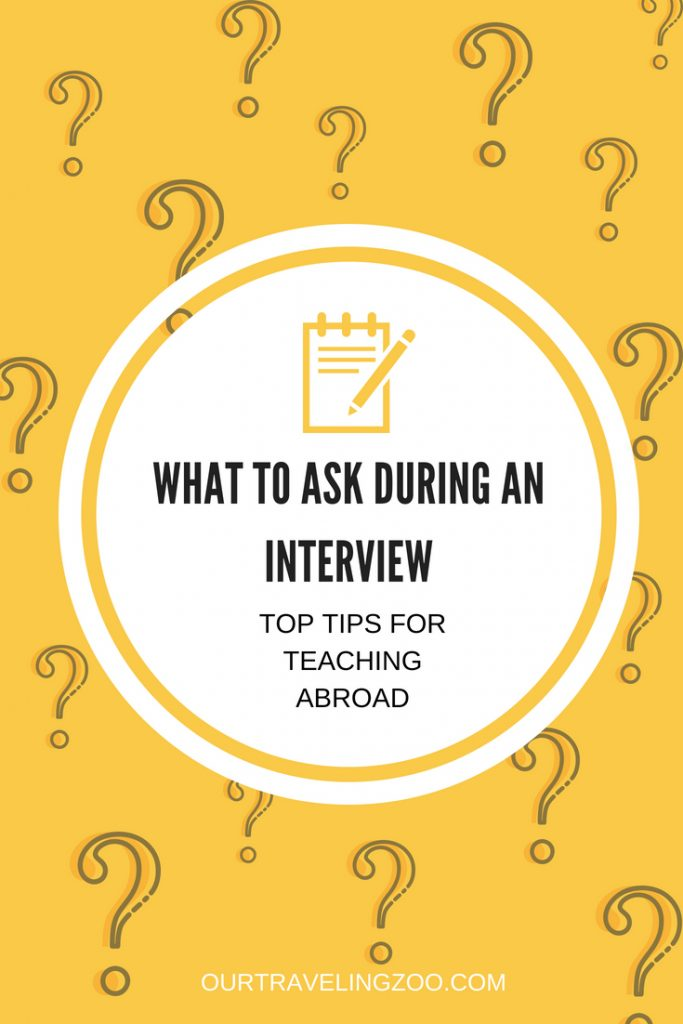 Top Tips for Teaching Abroad Interview