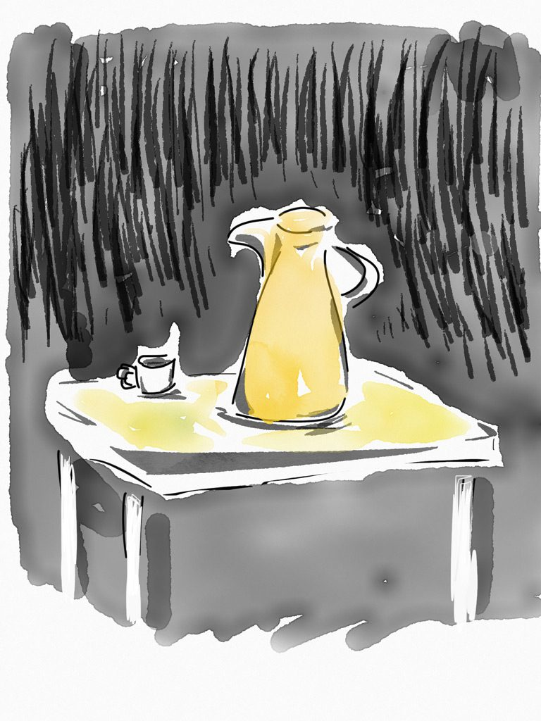 Arabian coffee pot sketch