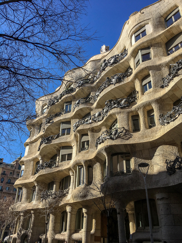 Casa Mila from one side