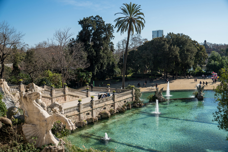 The view from the top of the Cascade Fountain, Barcelona