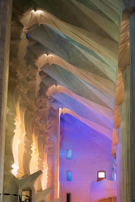 Reflected light at Sagrada Familia, Barcelona