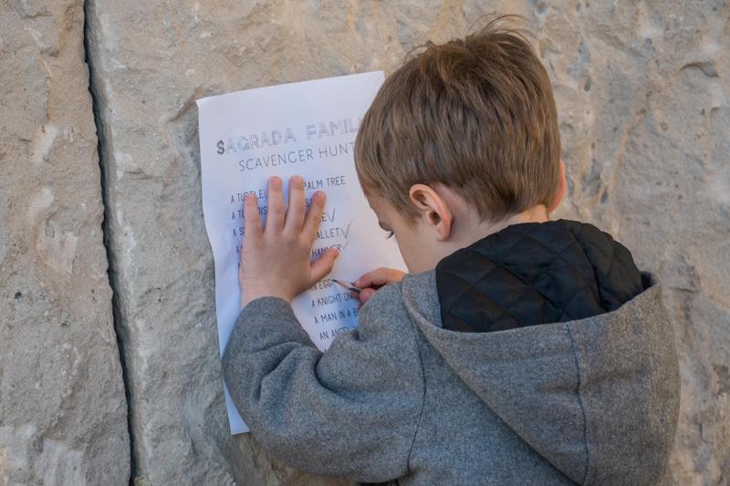 Jenia created a Sagrada Familia printable to keep our kids entertained while we toured Gaudi's masterpiece