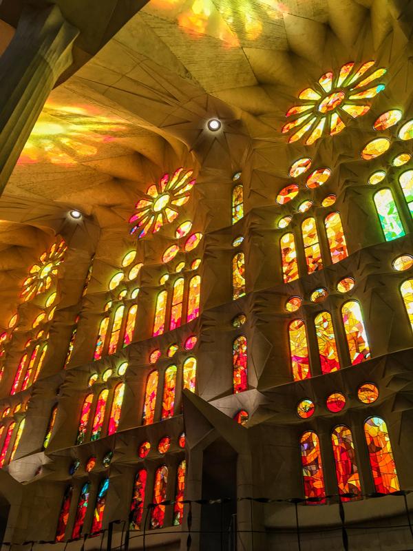 Beautiful reflected light at Sagrada Familia