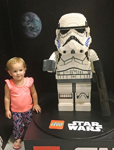 Princess with a Lego Storm Trooper