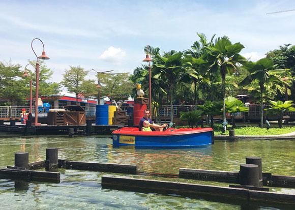 Boating school ride in Legoland, Malaysia