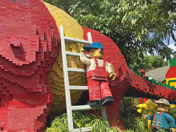 Legoland Malaysia sculptures are faded and grungy