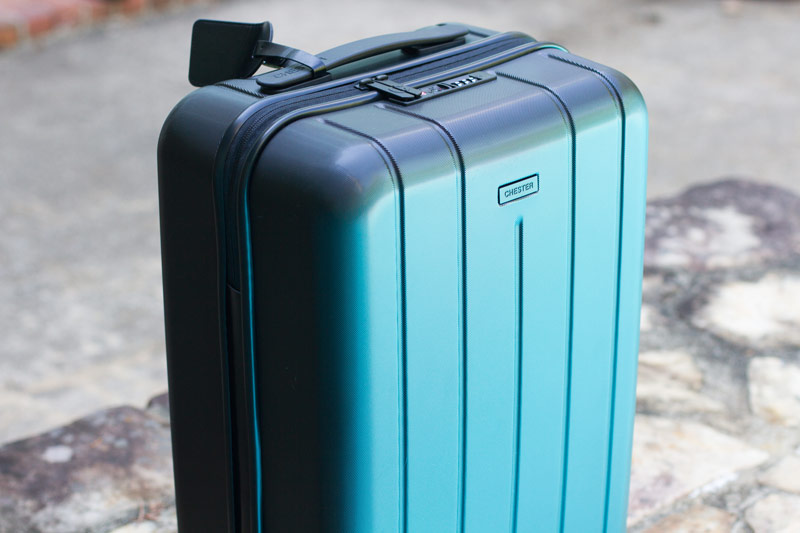 Chester Travels Minima Suitcase 3/4 view