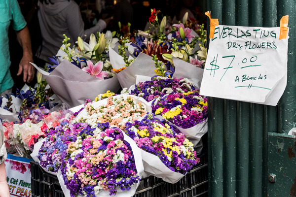 flowers for sale at Pike Place Market