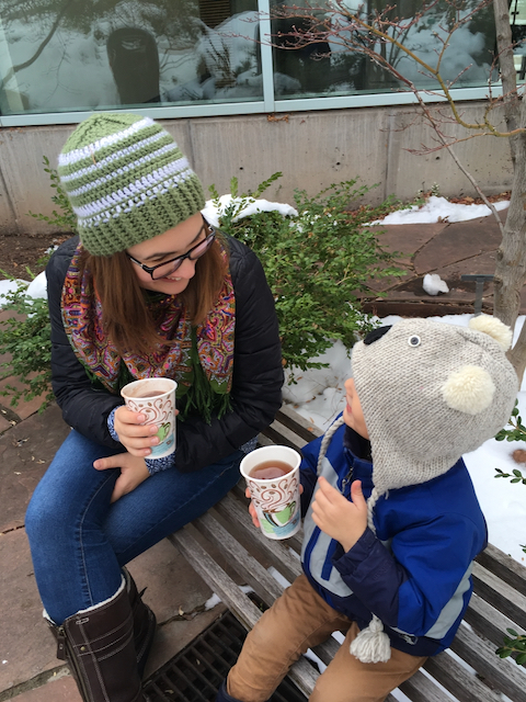 One of our favorite treats during Advent is hot chocolate!